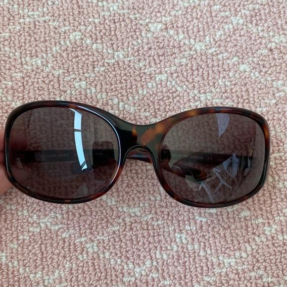 Michael Kors Round Tortoise Women's Sunglasses